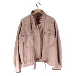 NWOT Free People Flight Line Bomber Jacket